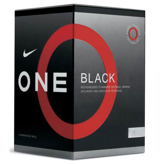 Nike One Black Golf Balls