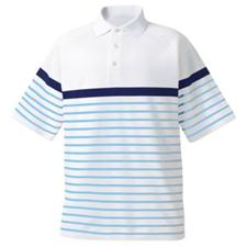 FootJoy Men's Stretch Pique Engineered Stripe Athletic Fit Shirt