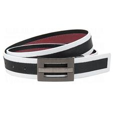 Greg Norman Reversible Multi-Colored Leather Belt