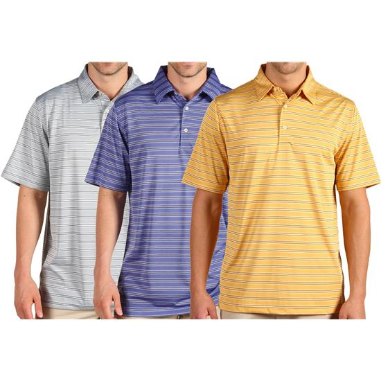 Greg Norman Men's Sorbtek Stripe Polo