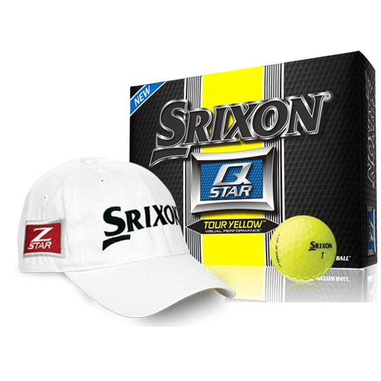 Srixon Q Star Tour Yellow Golf Balls with Free Tour Hat