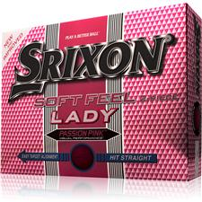 Srixon Soft Feel Lady Passion Pink Logo Golf Balls