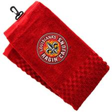 Team Golf Collegiate Embroidered Tri-Folded Towel- ULL