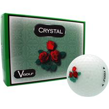 V Golf Crystal Golf Balls - Rose Logo