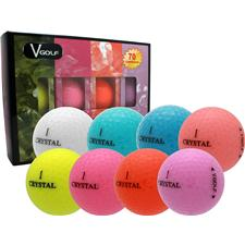 V Golf Logo Overrun Crystal Golf Balls