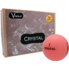 V Golf Peach Crystal Golf Balls
