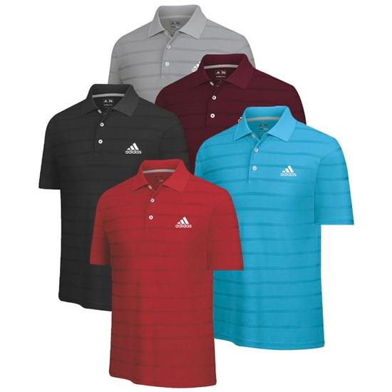 Adidas Men's Tour Logo ClimaCool Textured Solid Polo