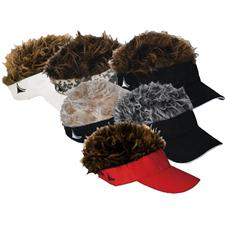 Flair Hair Men's Visor with Hair
