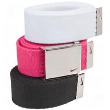 Nike Tech Essentials Web Belt for Women - 3 Pack