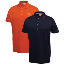 Puma Men's Solid Jacquard Polo