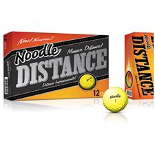 Taylor Made Noodle Distance Yellow Personalized  Golf Balls