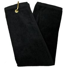 Tri-Fold Personalized Golf Towel - Black