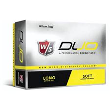 Wilson Staff Duo Yellow Logo Golf Balls
