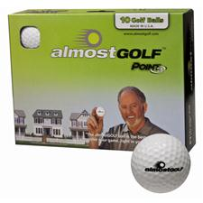 Almost Golf 10 Ball Trial Pack - White - Golf Balls
