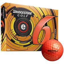 Bridgestone e6 Orange Logo Golf Balls