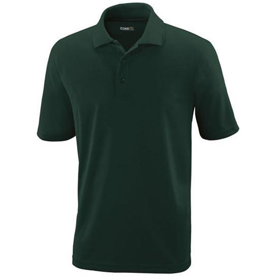 Core basic men 39 s custom logo performance pique polo for Custom golf polo shirts