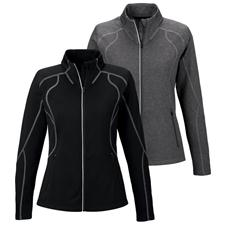North End Custom Logo Contrast Stitch Performance Jacket for Women