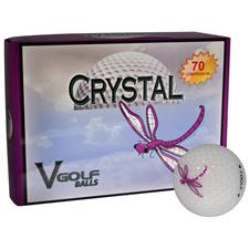 V Golf Crystal Golf Balls - Purple Dragon Fly Logo