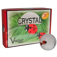 V Golf Crystal Golf Balls - Two Lady Bug Logo
