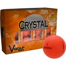 V Golf Orange Crystal Golf Balls