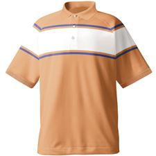 FootJoy Men's Stretch Lisle Chest Stripe Athletic Fit Shirt