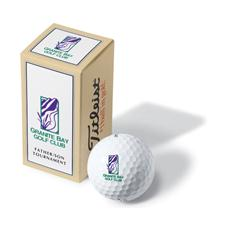 Pinnacle Custom Logo Package Custom 2-Ball Sleeve
