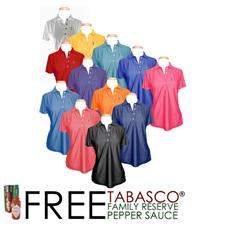 TABASCO Brand Custom Logo Custom Sport Performance Polo for Women