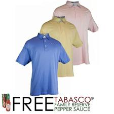TABASCO Brand Men's Luxe Jersey Mini Check Trim Polo