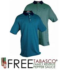 TABASCO Brand Men's Luxe Jersey Stripe Polo