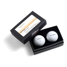 Titleist Custom Logo 2-Ball Business Card Box