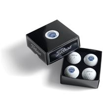 Titleist Custom Logo PackEdge Custom Dome Label 4-Ball Box