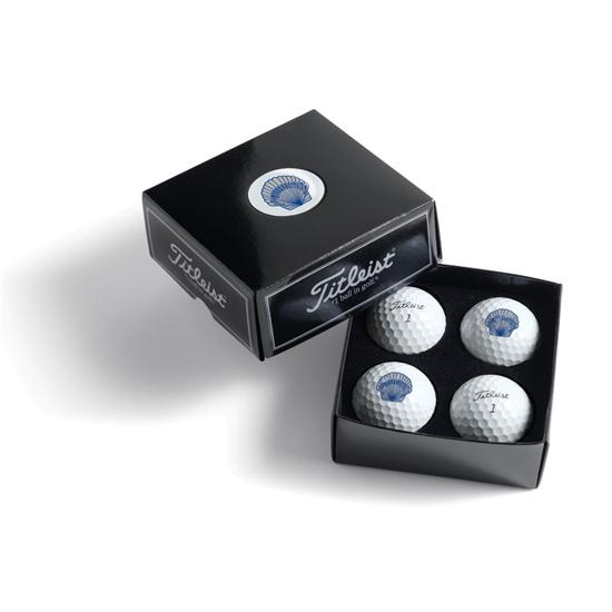 Home Golf Balls Titleist PackEdge Custom Dome Label 4-Ball Box