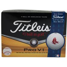 Titleist Pro V1 MLB Personalized Golf Balls - Boston Red Sox