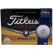 Titleist Pro V1 MLB Personalized Golf Balls - New York Yankees