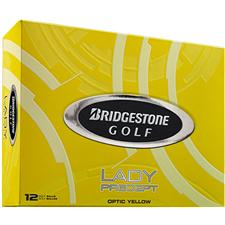 Bridgestone Lady Precept Yellow Personalized Golf Balls