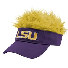 Flair Hair Men's Collegiate Visor with Hair