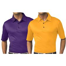 Greg Norman Men's Pro-Tek Textured Solid Polo