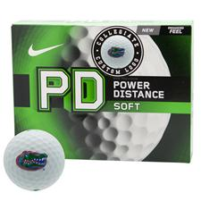 Nike Power Distance Soft Collegiate Personalized Golf Balls - Florida Gators