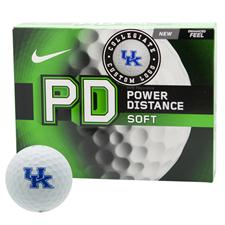 Nike Power Distance Soft Collegiate Personalized Golf Balls - Kentucky Wildcats