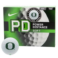 Nike Power Distance Soft Collegiate Golf Balls - Oregon Ducks