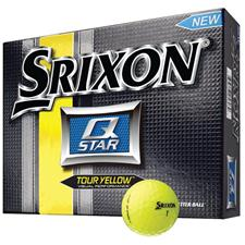 Srixon Custom Logo Q Star Tour Yellow Golf Balls