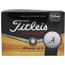 Titleist Pro V1 Collegiate Personalized Golf Balls - Alabama Crimson Tide