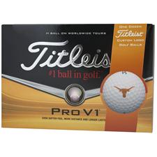 Titleist Pro V1 Collegiate Personalized Golf Balls - Texas Longhorns