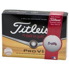 Titleist Atlanta Braves Prior Generation Pro V1 MLB Golf Balls