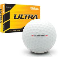Wilson Ultra 500 Distance Linear See Feel Trust Logo Golf Balls