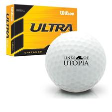 Wilson Ultra 500 Distance Links of Utopia Logo Golf Balls