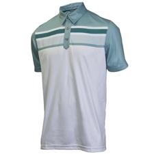 Ashworth Men's PGA Champ Performance Engineered Print Stripe Polo
