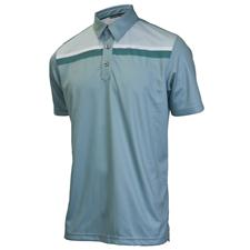 Ashworth Men's PGA Championship Performance Chest Block Polo