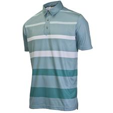 Ashworth Men's PGA Championship Performance Gradient Stripe Polo