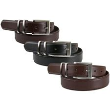 Beverly Hills Polo Club 32mm Pebble Grain Feather Edge Belt